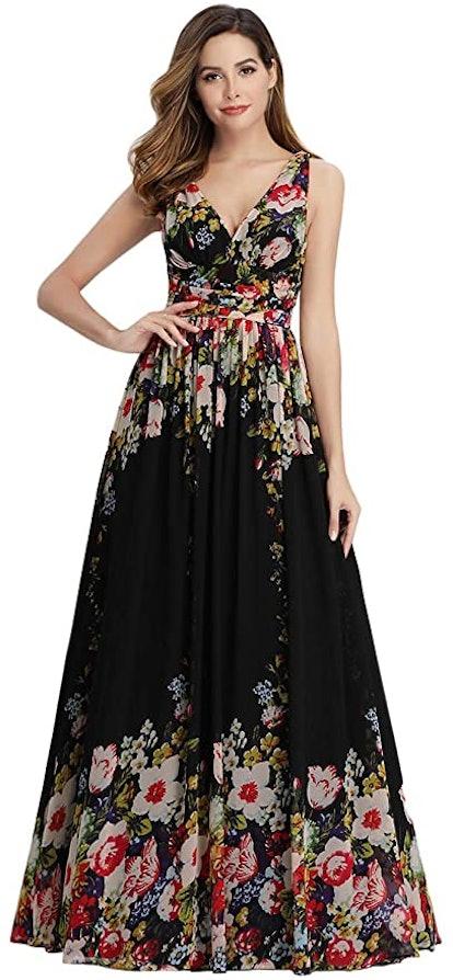 Ever-Pretty Semi-Formal Maxi Evening Dress