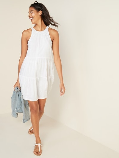 Old Navy Sleeveless Tiered Swing Dress