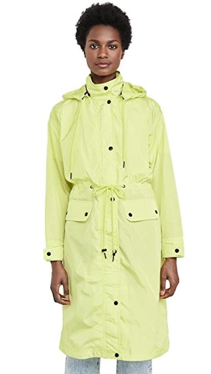 Oversized Nylon Rain Anorak
