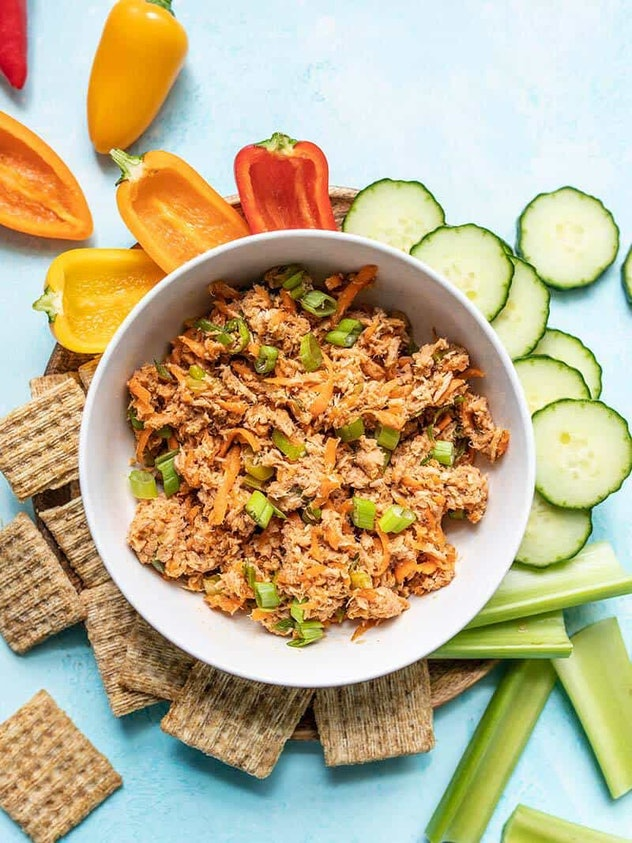 Sweet and Spicy Tuna Salad is an easy to make summer dinner you can have on the go.