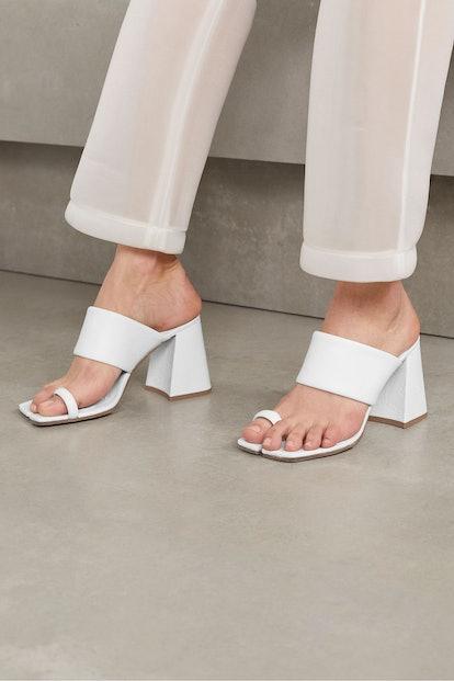Split-Toe Leather Mules