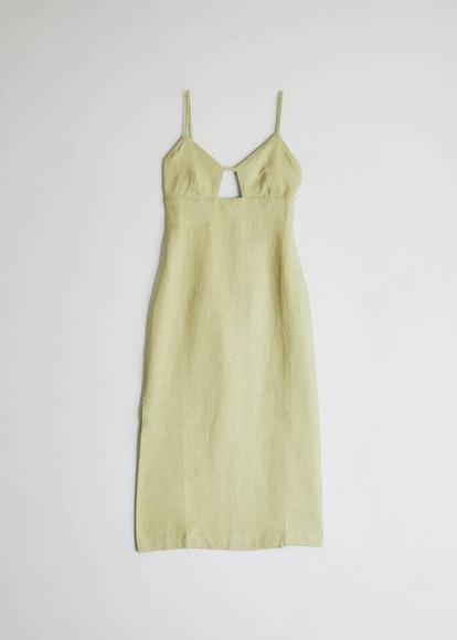 Dalini Dress in Pastel Lime