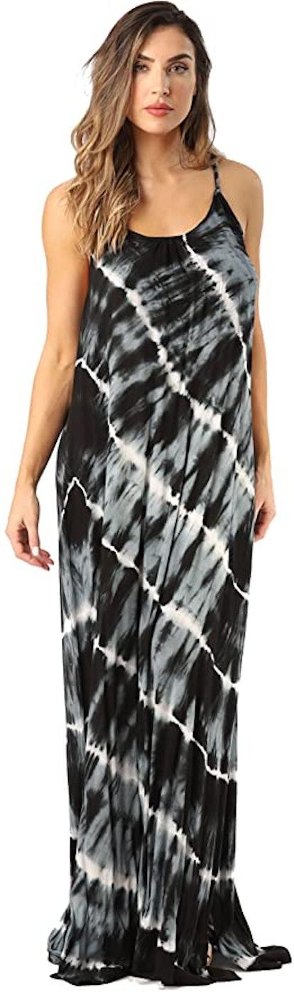 Riviera Sun Tie-Dye Spaghetti Strap Maxi Dress