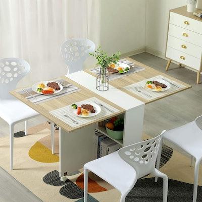 Tiptiper Folding Dining Table