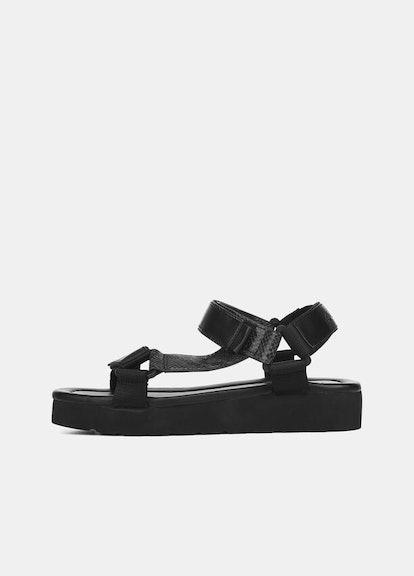 Leather Carver Platform Sandal