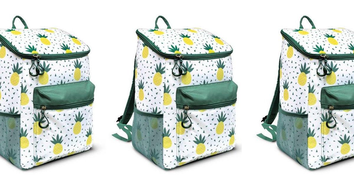 Aldi's New Pineapple Cooler Backpack Is The Perfect Summer Accessory