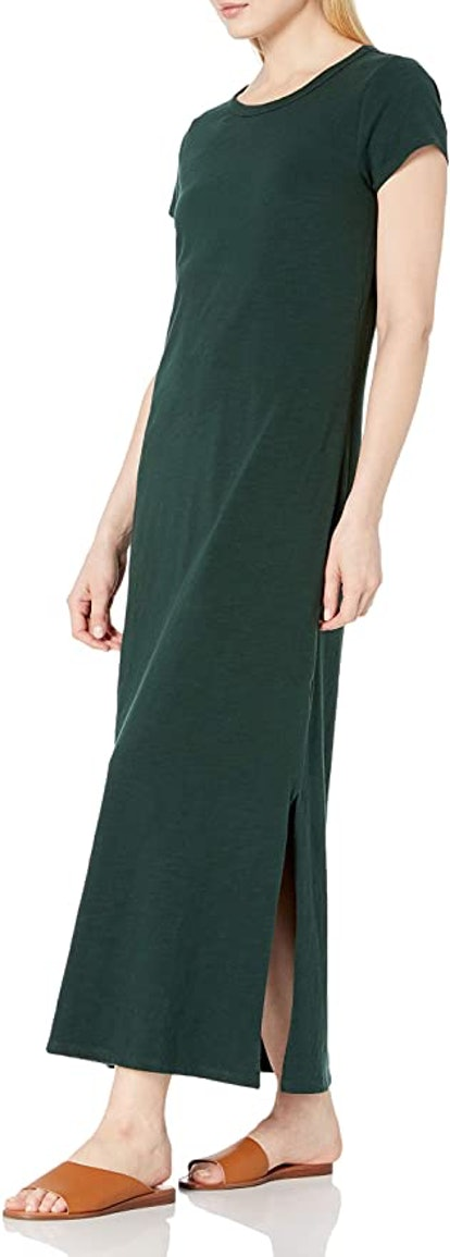 Daily Ritual Lived-in Cotton Crewneck Maxi Dress