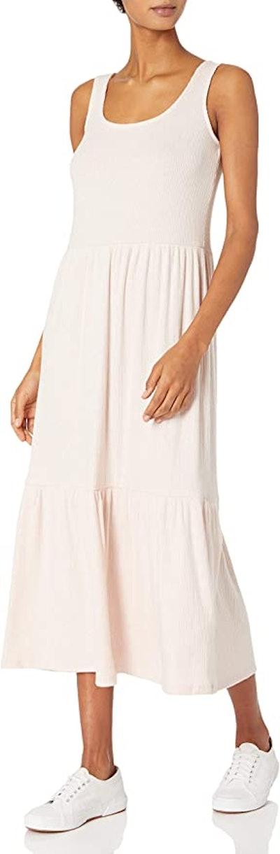 Daily Ritual Cozy Rib Knit Tiered Tank Dress
