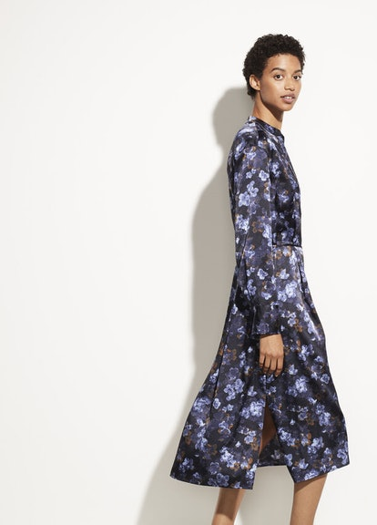 Plumeria Blooms Satin Dress