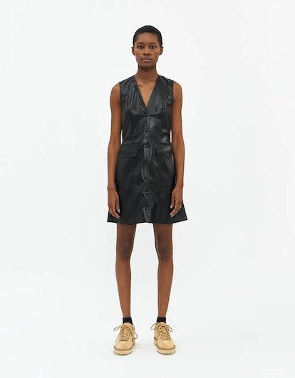 Menphi Vegan Leather Dress