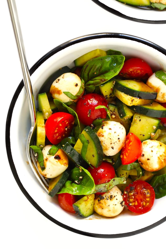 Cucumber Caprese Salad is a refreshing summer dinner you can have on the go.