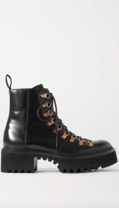 Nanette Leather Platform Ankle Boots