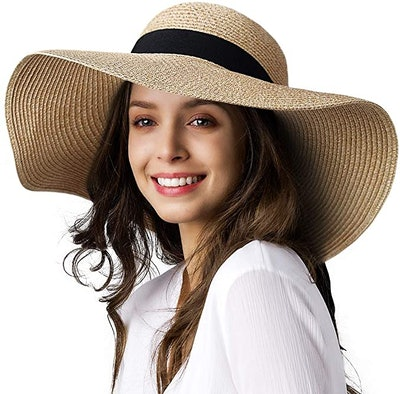 FURTALK Wide Brim Floppy Straw Hat