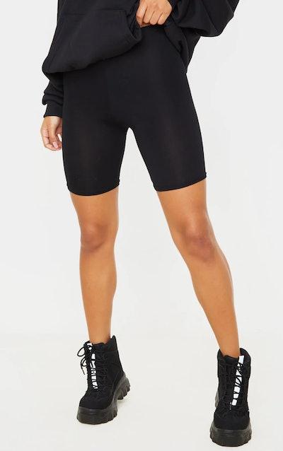 1. Basic Black Cycle Shorts