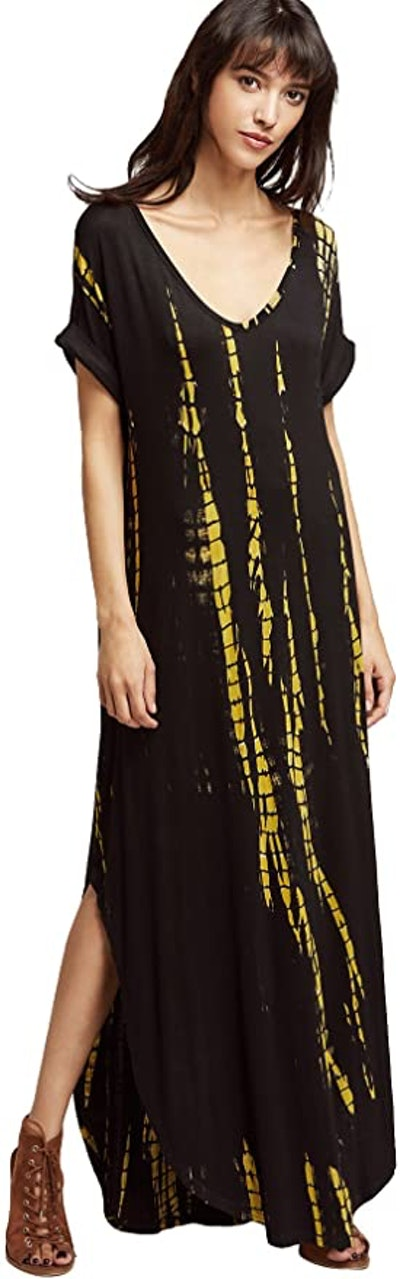 MakeMeChic Boho Tie-Dye Maxi Dress