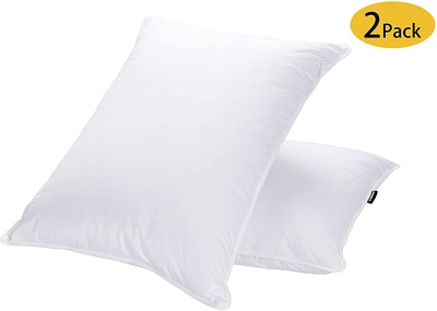 JA COMFORTS Goose Down and Feather Bed Pillows (2-Pack)