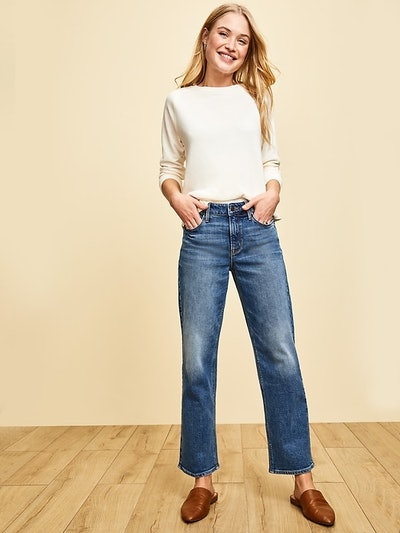 Old Navy High-Waisted Slim Wide-Leg Jeans