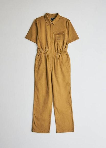 Short Sleeve Work Suit in Mustard
