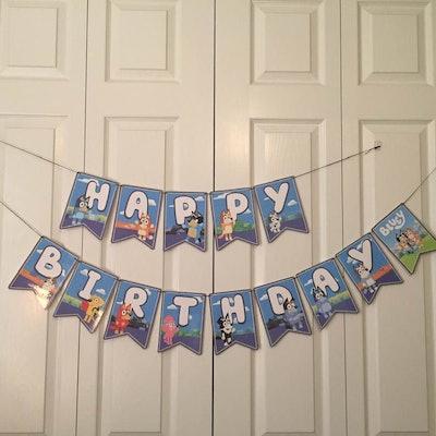Bluey Inspired Birthday Banner