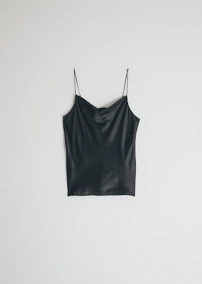 Ingrid Silk Camisole in Black