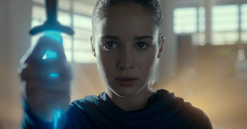 Ava melts a divinium sword in Netflix's Warrior Nun, via the Netflix press site.