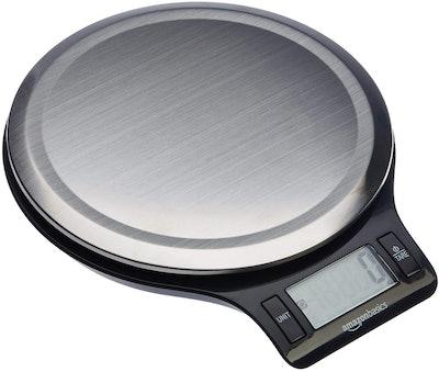 AmazonBasics Stainless Steel Digital Kitchen Scale
