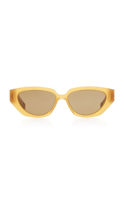 Raw Cat-Eye Acetate Sunglasses