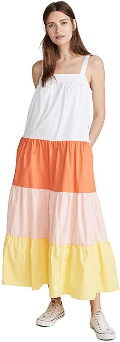 English Factory Colorblock Sleeveless Dress