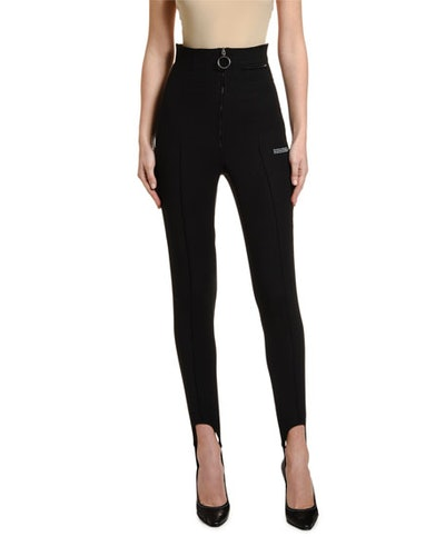 High-Rise Fitted Stirrup Pants