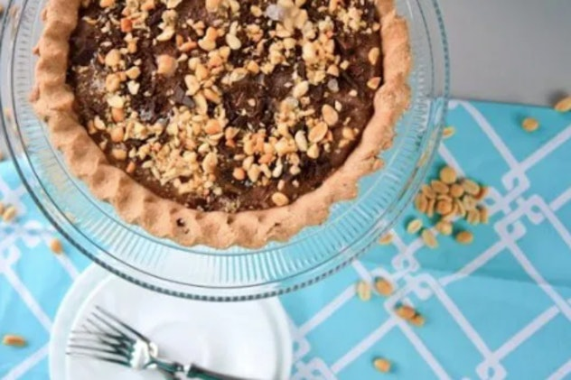 frosty banana and peanut butter chocolate pie