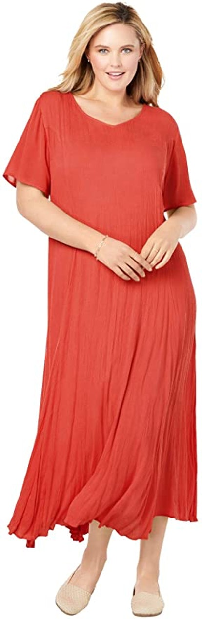 Woman Within Plus Size Crinkle Dress