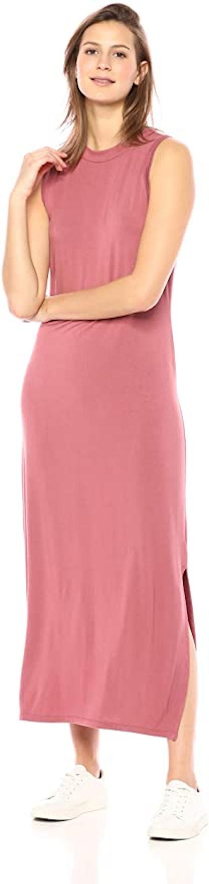 Daily Ritual Jersey Mock-Neck Maxi Dress