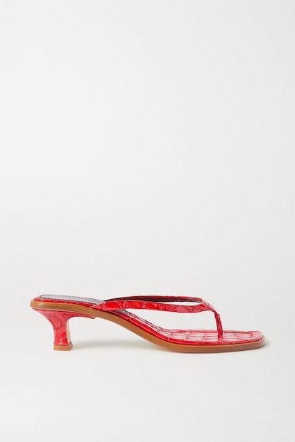 Alix Croc-Effect Sandals