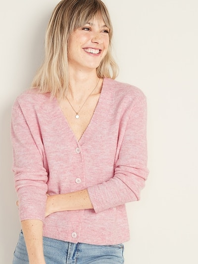 Old Navy Slouchy Soft-Brushed Button-Front Cardi