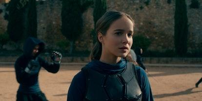 A still of Ava from Netflix's 'Warrior Nun' in her fighting gear, via the Netflix press site.