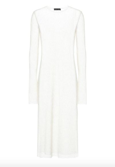 Sheer Knit Midi Dress