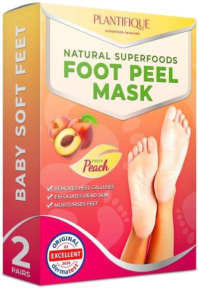 Plantifique Exfoliating Foot Peel Mask for Baby Soft Feet