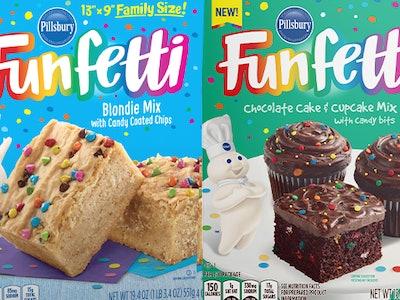 pillsbury funfetti blondie and chocolate cake mixes
