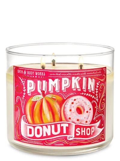 Pumpkin Donut Shop 3-Wick Candle