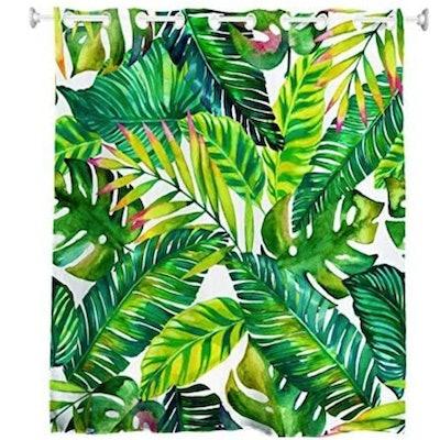 Goodbath Hookless Leaf Shower Curtain