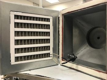 The team's coronavirus-killing air filter.