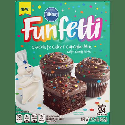 Pillsbury Funfetti Chocolate Cake & Cupcake Mix