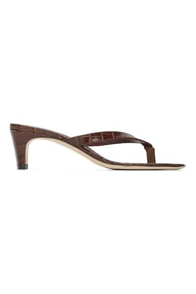 Brown Croc Audrey Sandals