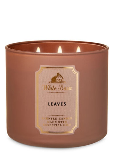 White Barn Leaves 3-Wick Candle
