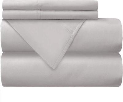 Mellanni 100% Cotton Percale Bed Sheet Set