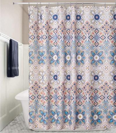 mDesign Fabric Shower Curtain
