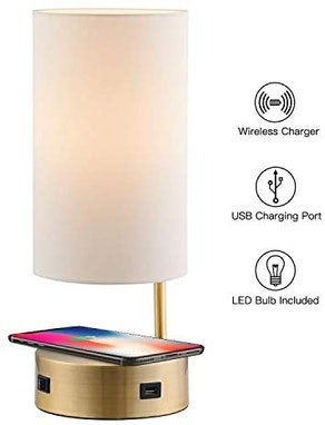 Lampression USB Lamp with Wireless Charging