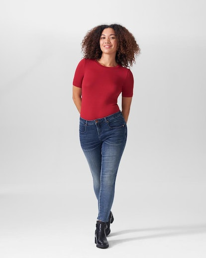Foundation Short Sleeve Crew Neck Tee - Red Dahlia