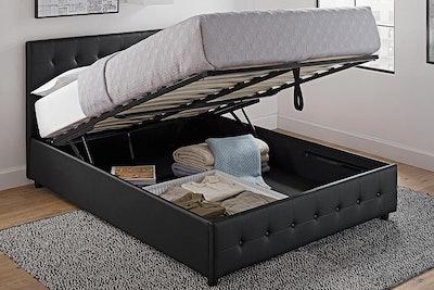 DHP Cambridge Faux Leather Queen Size Platform Bed