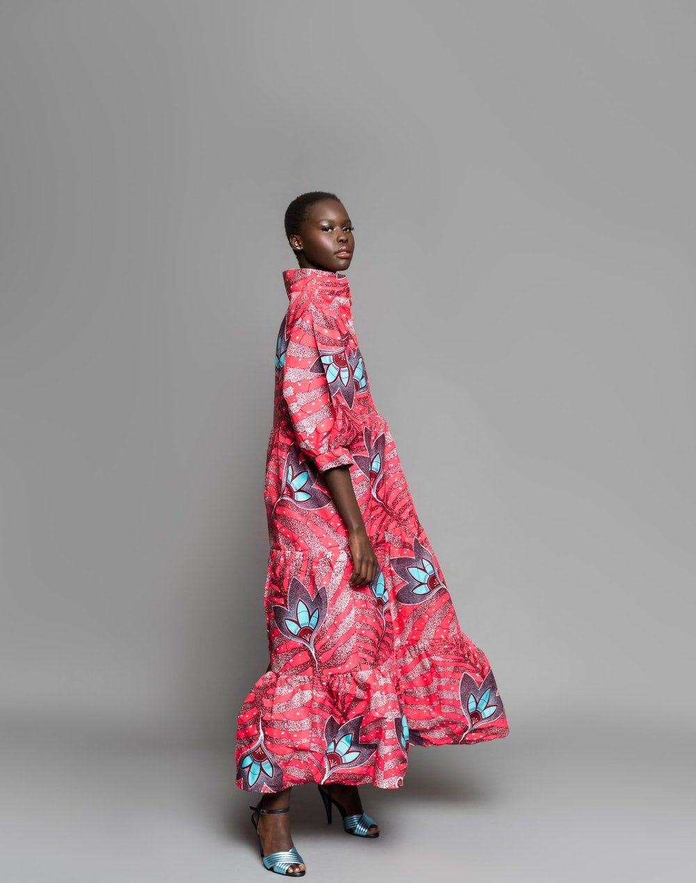 MIDI IN HOT PINK FLORAL